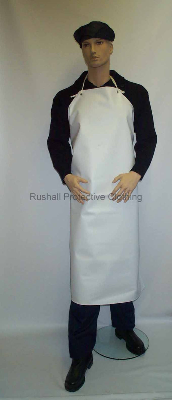 White Heavyweight PVC Apron 48x36 Inch