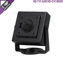 Load image into Gallery viewer, 2MP Pinhole Camera 4-In-1(TVI/AHD/CVI/CVBS), 1080P, 3.7mm, DC12V-hdvd
