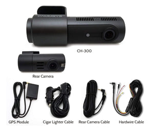 BlackSys CH-300 Series 2-Channel Wi-Fi Dash Camera ( CH-300-2CH ) - HDVideoDepot