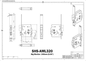 Samsung SHS-H505 RFID Tag, Passcode Digital Door Lock