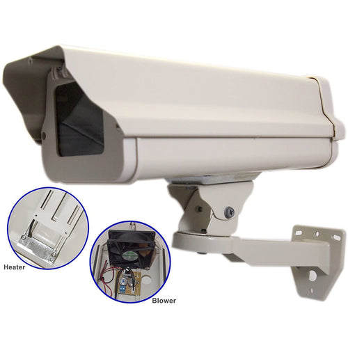 14.5 Inch CCTV Security Surveillance Outdoor Camera Housing Box Built-In 24V AC Heater and Blower Weatherproof