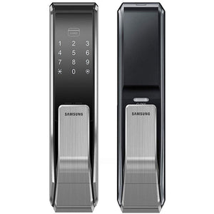 Samsung SHS-P717 Push Pull Biometric Touchscreen Door Lock - HDVideoDepot