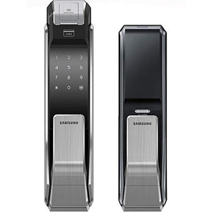 Samsung SHS-P718 Push Pull Biometric Fingerprint Digital Door Lock - HDVideoDepot