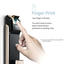 Load image into Gallery viewer, [Best Seller] Samsung SHS-P718 Push Pull Biometric Fingerprint Digital Door Lock - HDVideoDepot
