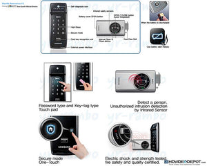 [REFURBISHED] Samsung SHS-2320 RIM Digital Door Lock - HDVideoDepot