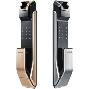 [REFURBISHED] Samsung SHS-P718 Push Pull Biometric Fingerprint Digital Door Lock - HDVideoDepot