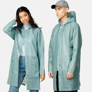 Rains - Hooded Coat - Foggy Dusty Mint - Unisexe