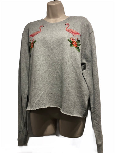 Sweat Gris Flamant rose - Tommy Jeans - Femme