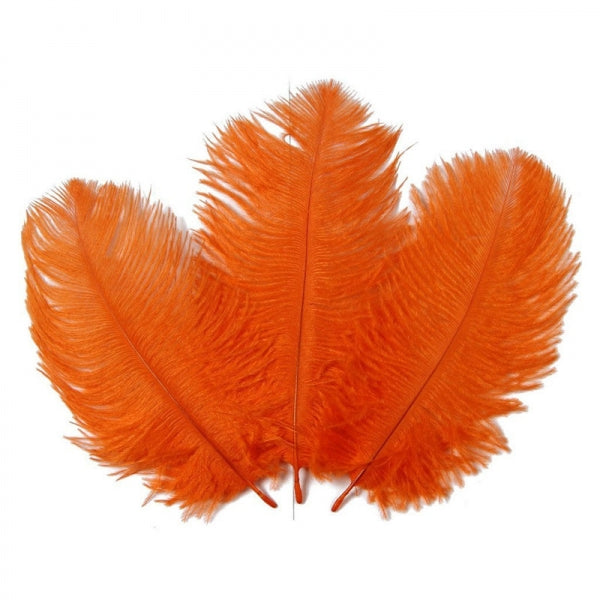 10pcs 10-12inch Natural Ostrich Feathers for Party Wedding Decoration - Orange