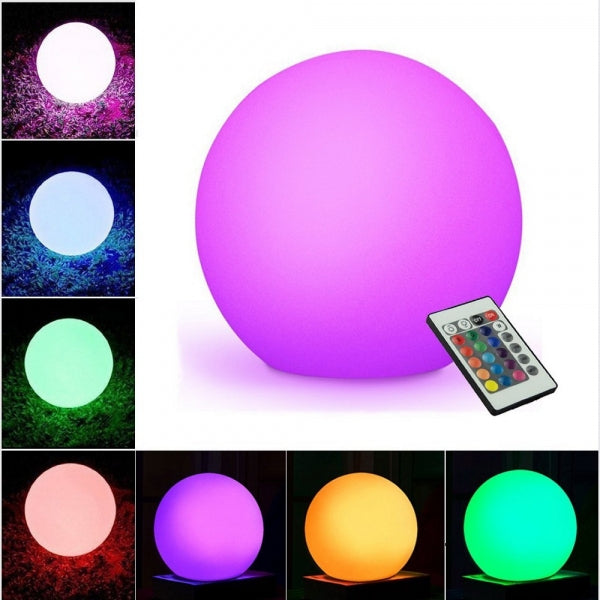 10inch Ultra-fun Waterproof LED Glowing Ball Light 16RGB Color Changing Light with Remote Control