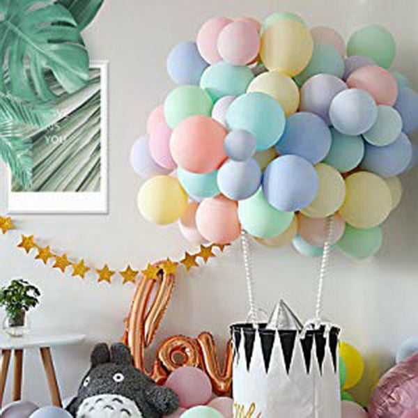 100pcs 10inch Candy-colored Macaron Balloons for Wedding Graduation Kids Birthday Party - Mixed Color