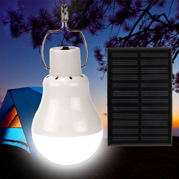 110LM 3W 900mAh 12LED Outdoor Solar Power Light Bulb Energy Lamp Camping Light with Hook for Home Fishing Camping Tent Emergency Shed Chicken Coop