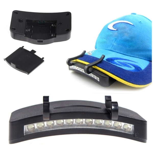 11 LED Clip Cap Hat Light Headlamp for Fishing Camping Hiking