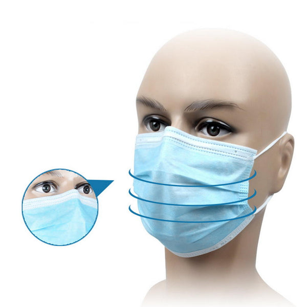 20Pcs / 50Pcs /100Pcs/200Pcs Disposable 3 Layers Masks Mouth Face Mask Dust-Proof Personal Protection