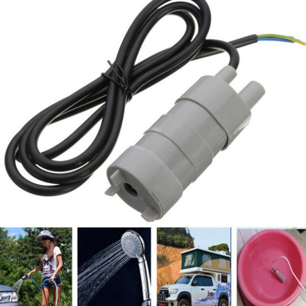 12V 5M Pumping Head Mini Submersible Motor Garden Fountain DC Brush Water Pump
