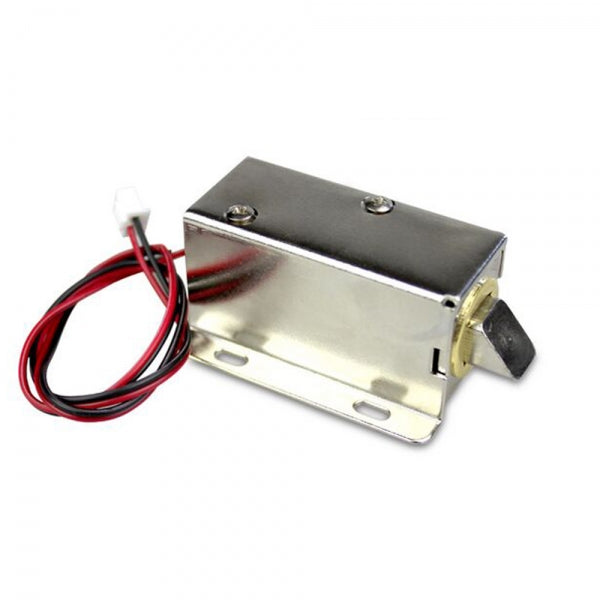 12V DC Cabinet Door Drawer Electric Lock Assembly Solenoid Lock Silver