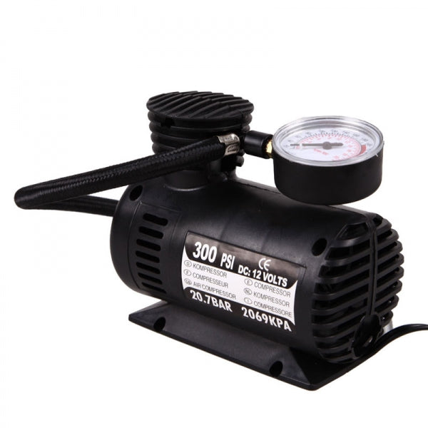 12V Mini Air Compressor Tire Electric Air Inflator Pump for Car / Jeep / Off-Road / SUV / Commercial Vehicle / Minivan / Bicycle / Basketball / Football / Air Cushion / Inflatable Toys