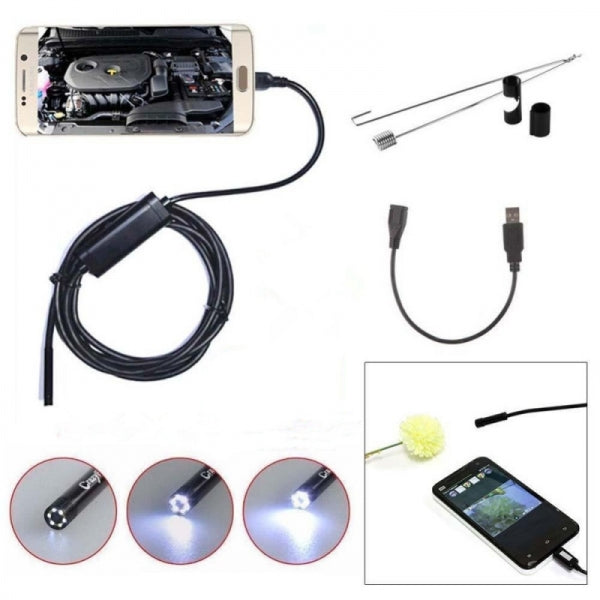 3.5M 6-LED 5.5mm Lens IP67 Waterproof 1.3MP Endoscope for Android