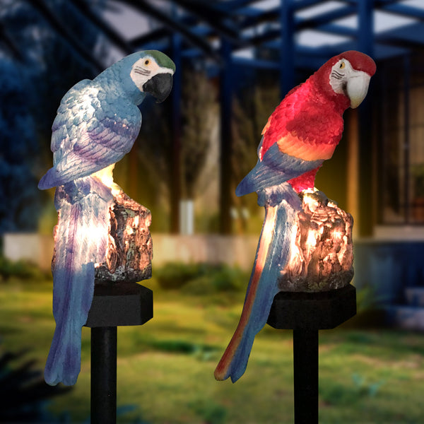 Solar Parrot Lawn Light LED Garden Ground Plug Light Outdoor Waterproof Light Sensing Decorative Light
