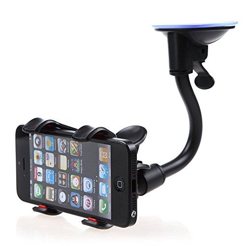 Car Suction Cup Stand Mount Bracket GPS Phone Holder 360° Rotational Black