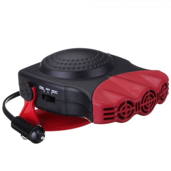 150W 2 in 1 Car Heater Heating and Cool Fan Windscreen Demister Defroster Red