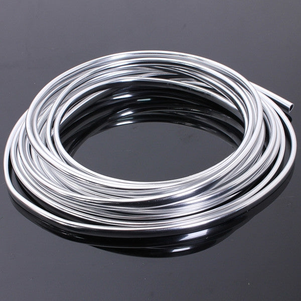 15M Chrome Moulding Trim Strip Car Door Edge Scratch Protector Cover