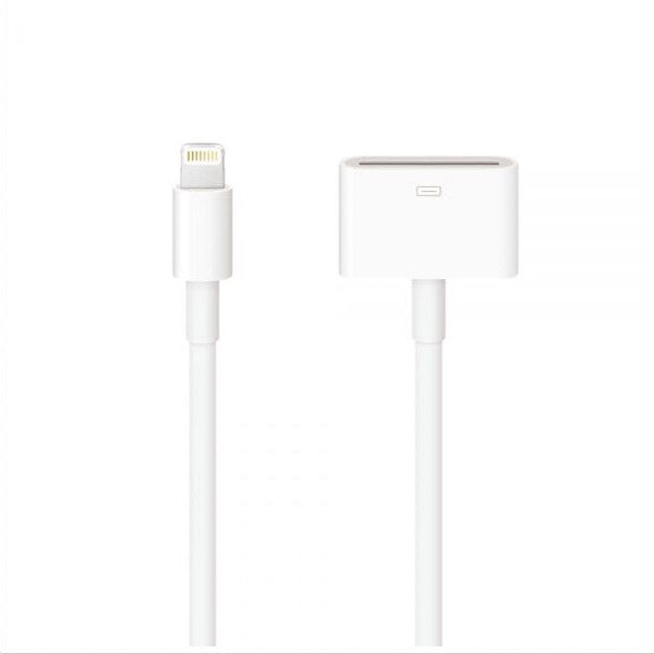 16.5cm 8-Pin Lightning to 30-Pin Adapter Cable for iPhone 7/6/5/iPad Mini/Air/iTouch 5 White