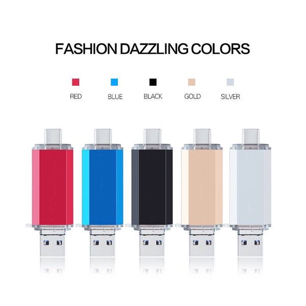 USB Flash Drive 3 IN 1 OTG USB 3.0 & TYPE C & Micro USB Stick Pen Drive 128GB 64GB 32GB 16GB 8GB Pendrive