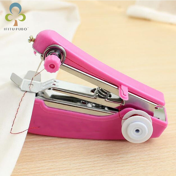 1pc Portable Mini Manual Sewing Machine Simple Operation Sewing Tools Sewing Cloth Mask Fabric Handy Needlework Tool