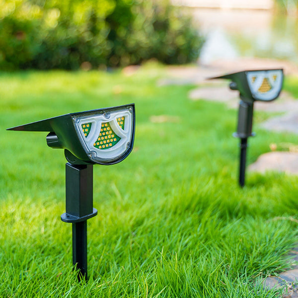 LED Solar Garden Lights Warm Cold White Outdoor Lawn Ground Plug Lights Bright Wall Lamp Dual Purpose