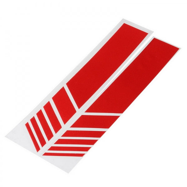 2 pcs Car Rear View Mirror Cover Stickers Stripe Decal Simple Emblem KK for Mercedes - Red