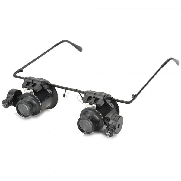 20X Magnification Glasses Type Magnifier with White LED Light