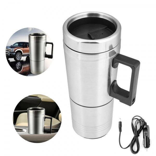 Car Auto Heating Cup Electric Mug Coffee Milk Kettle Travel Water Bottle
