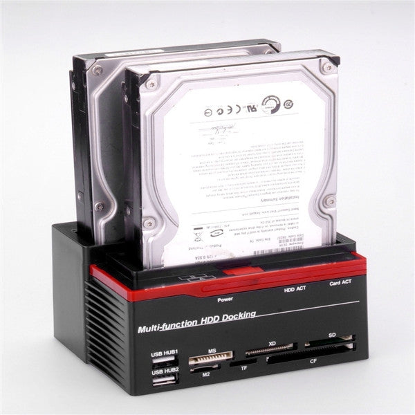 2.5/3.5inch Multi-functional SATA Hard Drive Dock with USB 2.0 Hub UK/US/EU plug