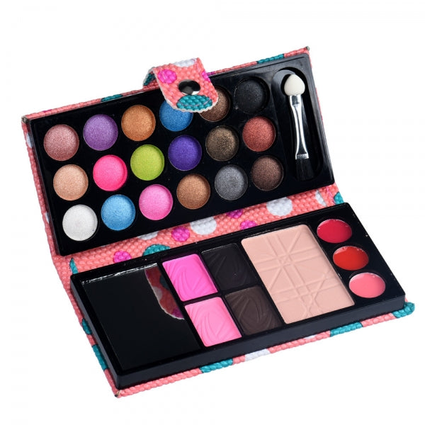 26 Colors Eye Shadow Makeup Palette Cosmetic Eyeshadow Blush Lip Gloss Powder with Mirror - Pink