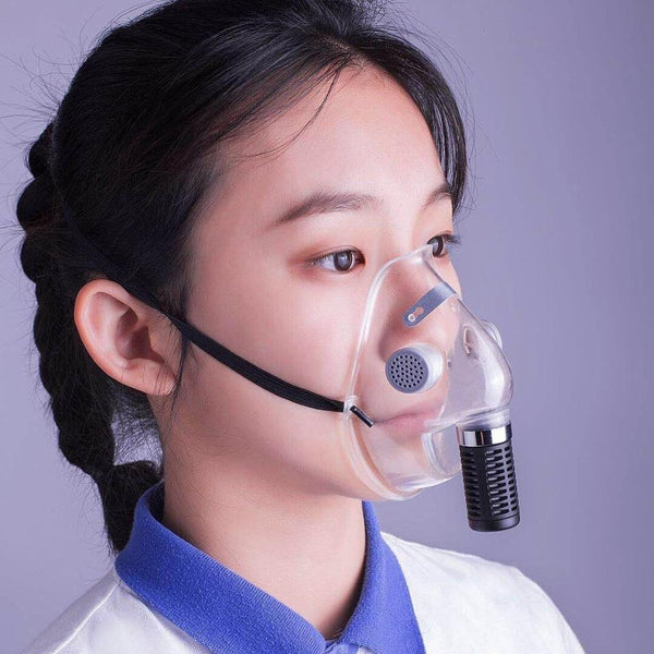 Reusable Transparent Face mask TPU mouth Face shield with Dual filter PM2.5 Respirator breathing Valve Adult Children Mask