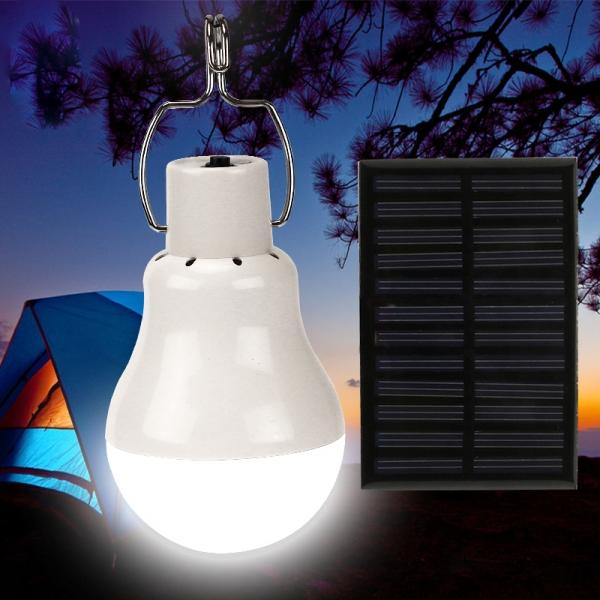 Solar Light Bulb 110LM Solar Powered Led Bulb Outdoor Solar Energy Lamp Camping Light for Home/ Fishing/Camping/Emergency/Tent/Shed Chicken Coop