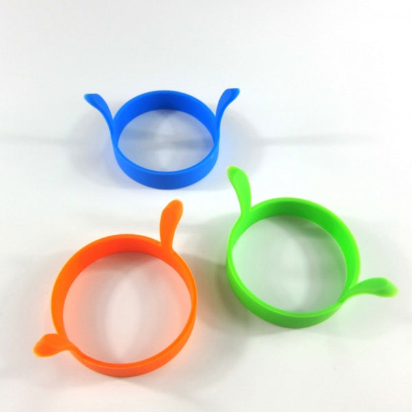 2pcs Kitchen Silicone Fried Egg Pancake Round Mold Ring Random Delivery