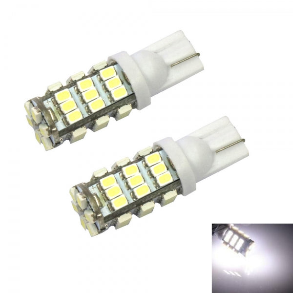 2pcs T10 20W Car Turning Light License Plate Lights - White Ligh