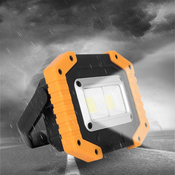 30W 2 COB 1500LM LED Work Light Rechargeable Portable Waterproof LED Flood Lights for Outdoor Camping Hiking Emergency Car Repairing and Job Site Lighting