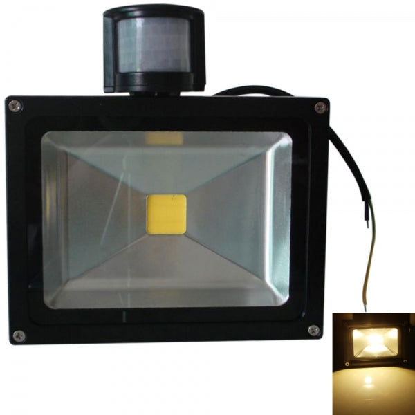 Outdoor 30W Motion Sensor Light PIR Projection Lamp - Warm White