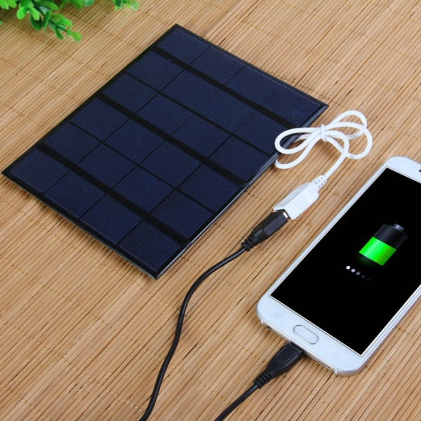 3.5W 6V Solar Panel DIY Power Bank USB Charger