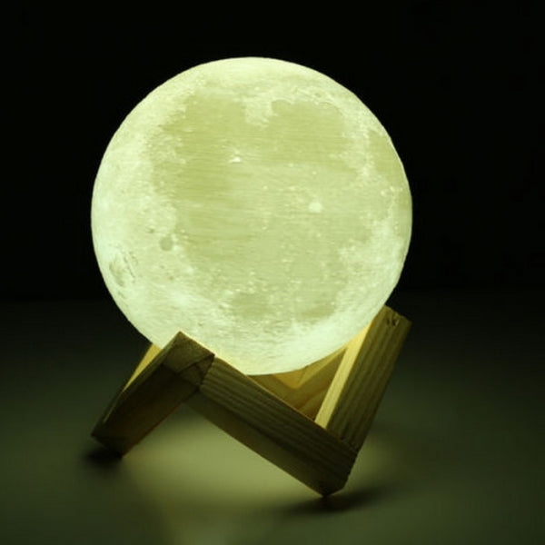 5.12inch 3D Printing Moon LED Night Light Moonlight Base Color Changing-Shadow Version