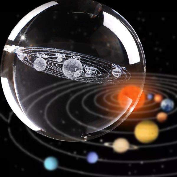 3D Solar System Crystal Ball Planets Model Gift for Home Decor/Kids/Teacher of Physics/Friend/Astronomy Enthusiast