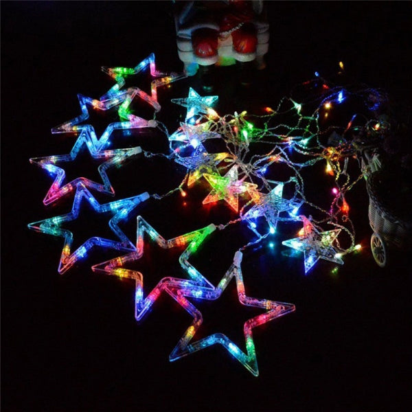 3M Waterproof Star LED String Light Party Wedding Decor w/ Tail Plug Colorful