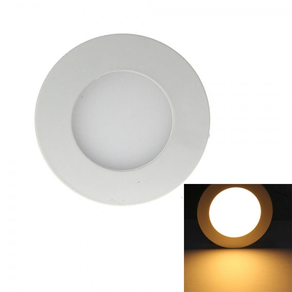 3W LED Downlight Ultra Slim Recessed Ceiling Panel Lights Round - Warm White