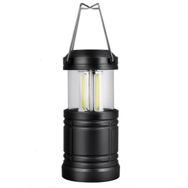 3W Waterproof Collapsible COB LED Super Bright Camping Light Black