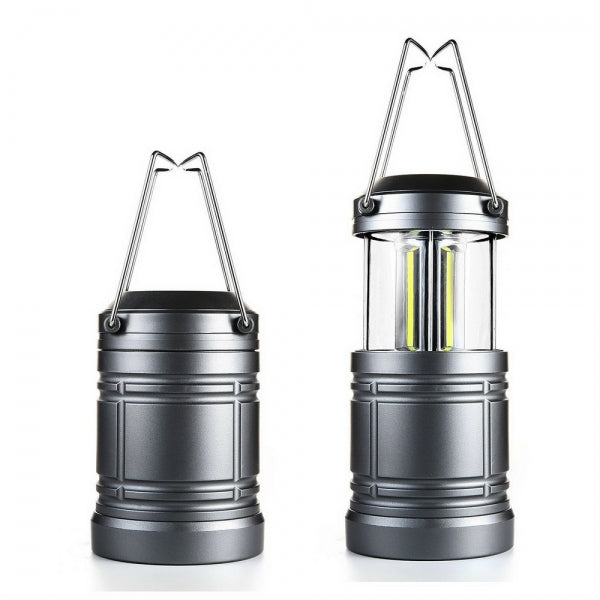 3W COB LED Waterproof Collapsible Super Bright Camping Light Lamp Gray