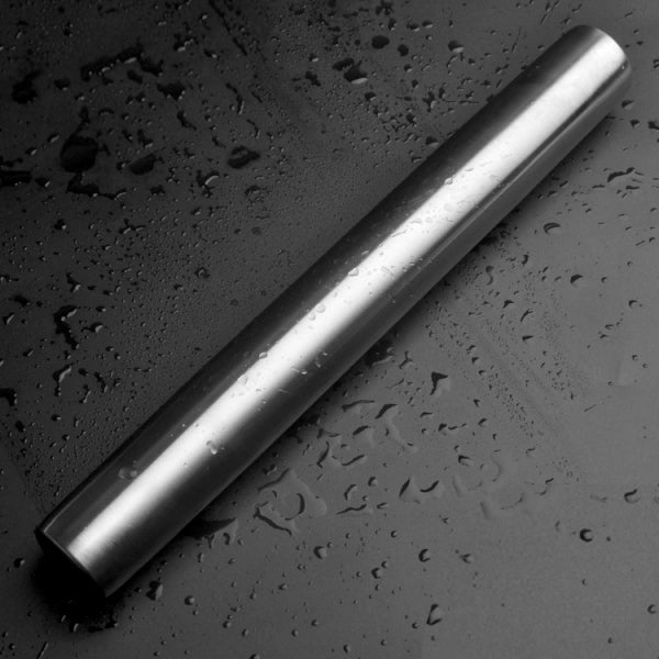 40 x 3.5cm Stainless Steel Rolling Pin for Baking Pizza Pastry Fondant Size L