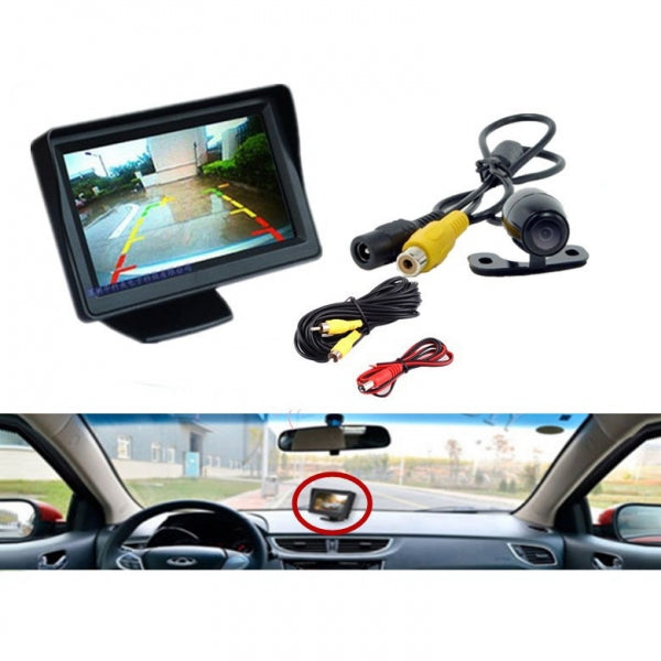 4.3 inch TFT LCD HD Digital Car Monitor Color Screen + Reversing Camera